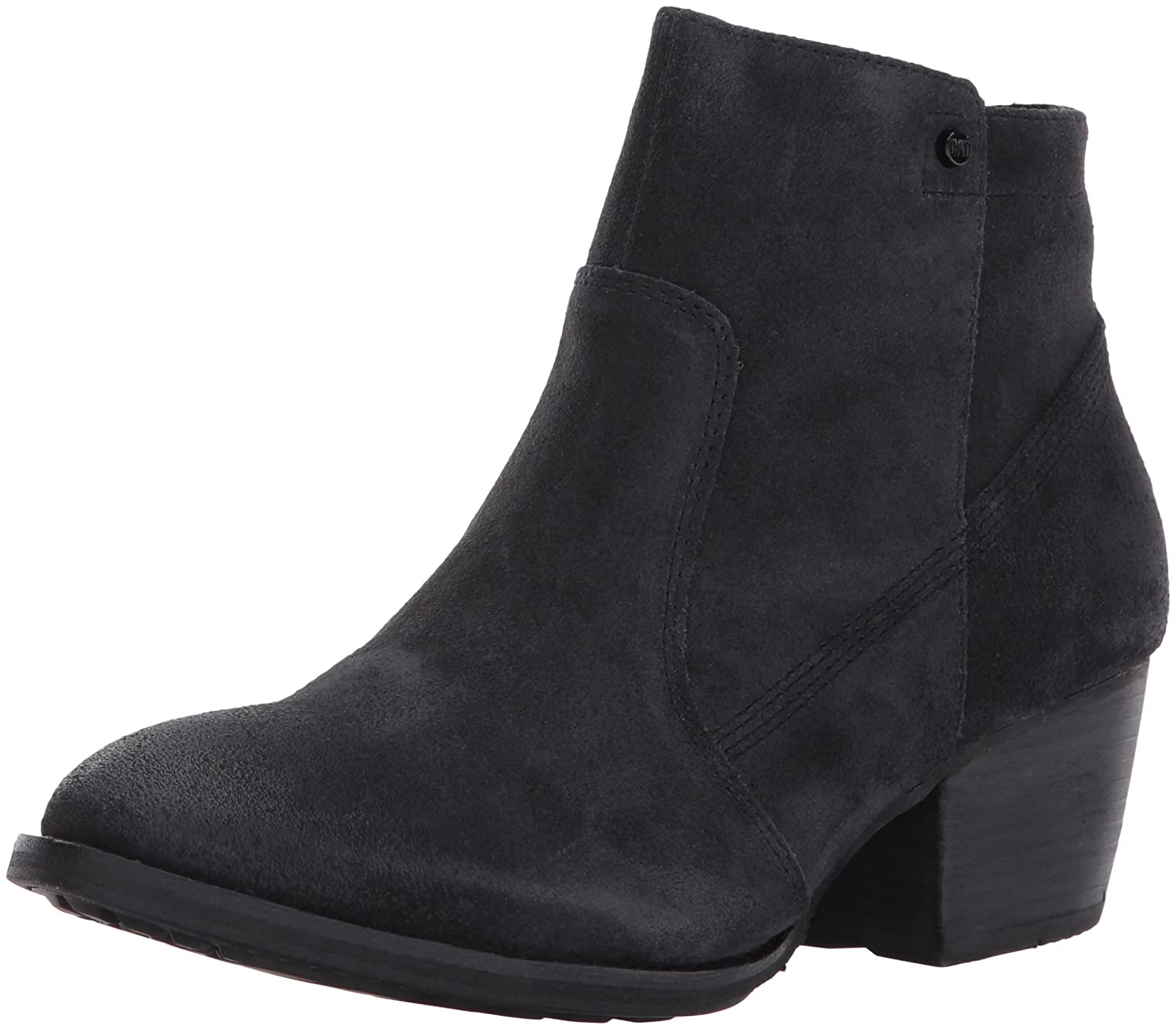 Caterpillar Women's Cider Side Zip Bootie with Stacked Heel Ankle Boot B01MU0E9CH 9.5 B(M) US|Black