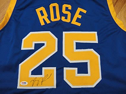 new product cd8b7 46946 Signed Derrick Rose Jersey - Simeon High School #25 ...