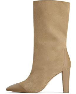 fe3a3c0106 Zara Women's Lace-up Leather Ankle Boots 3107/001 Off-White: Amazon ...