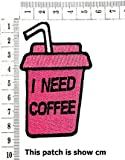 Pink Glass I Need Coffee Beverage Drinking Coffee