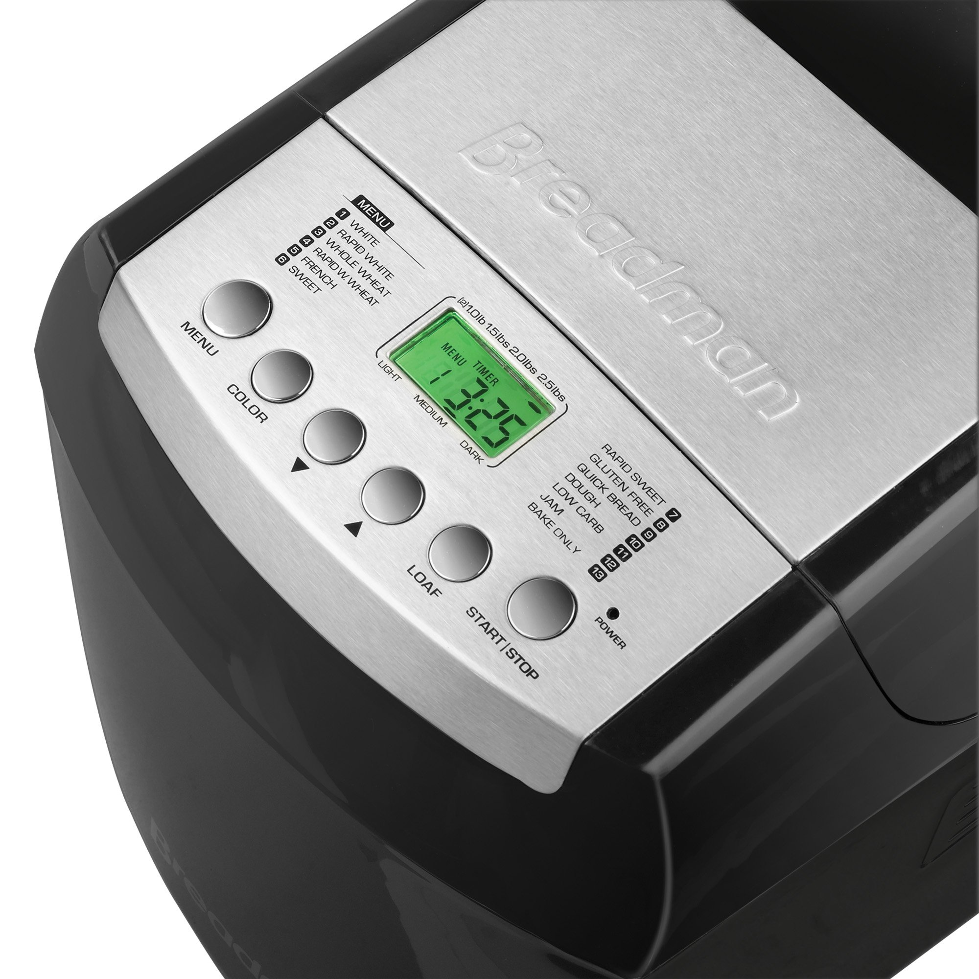 Breadman BK2000B 2-½-Pound Bakery Pro Bread Maker with Collapsible Kneading Paddles and Automatic Fruit and Nut Dispenser by Breadman