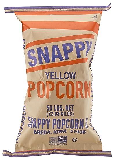 Amazon Snappy Yellow Popcorn 50 Pound Bag GMO Free Grocery