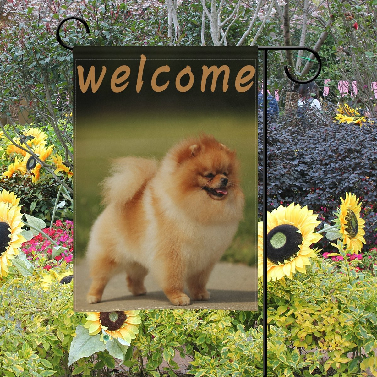 Amazon.com : WXLIFE Garden Flag 28 X 40 Large Inches, Welcome Animal ...