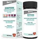 BeFit - Tiras para análisis de cetonas, ideales para seguir dietas cetogénicas (ayuno intermitente, paleo, Atkins…