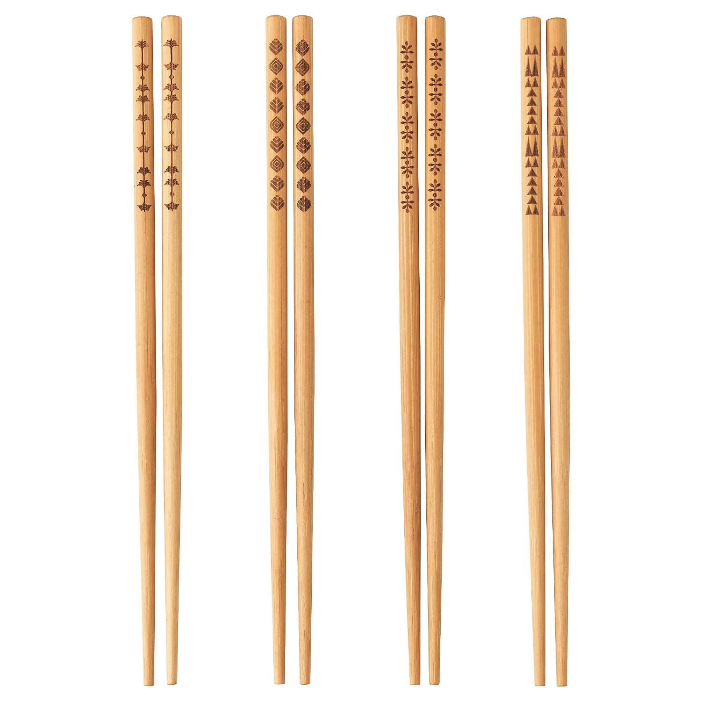 Ikea Chopsticks, 4 pairs, Bamboo