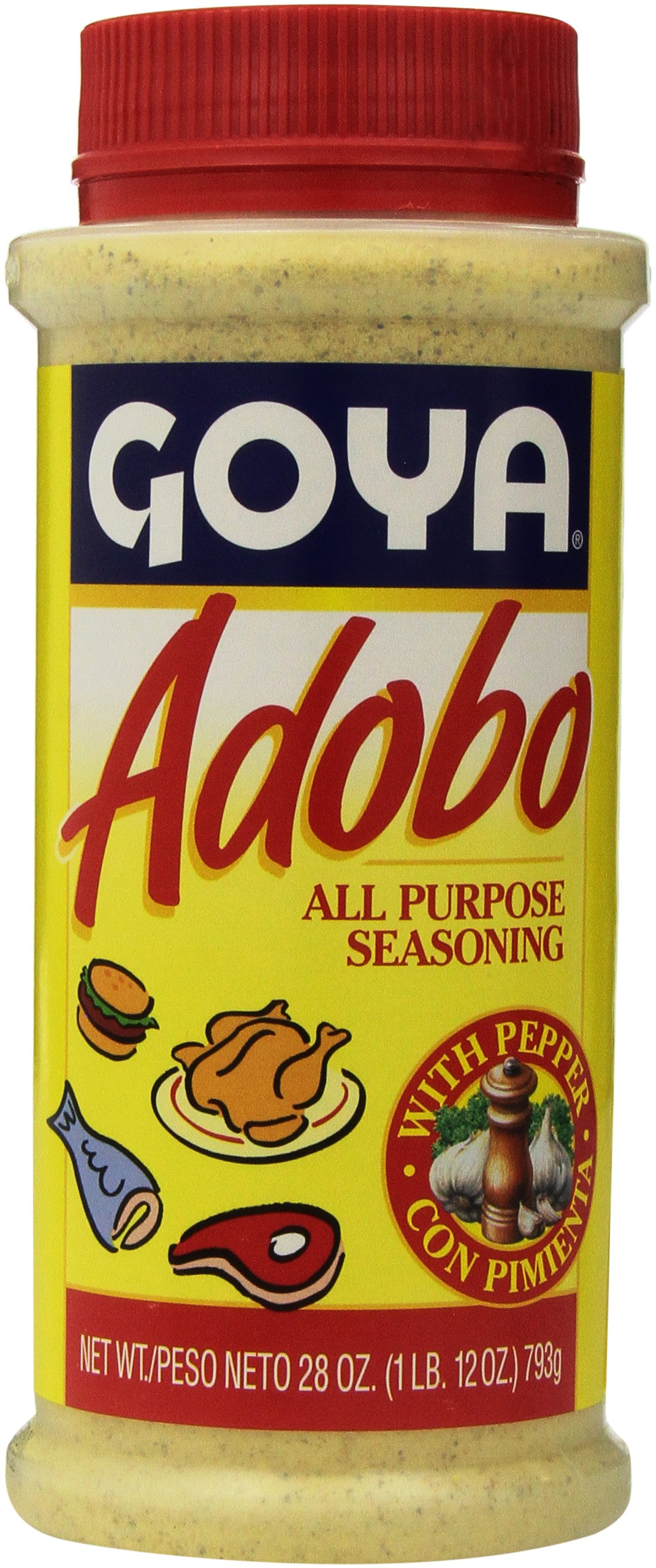 Goya Adobo All Purpose Seasoning 28 Ounces Jar (2 Pack)