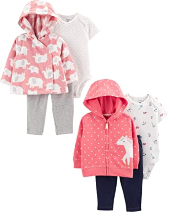Carter's Baby Girls 2-Pack 3-Piece Cardigan Set