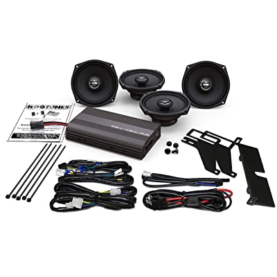 Hogtunes 200 Watt 4 Channel Amp With Front and Rear Speakers for 2000-2013 Harley-Davidson FLH Touring Models REV 450-AA: Automotive