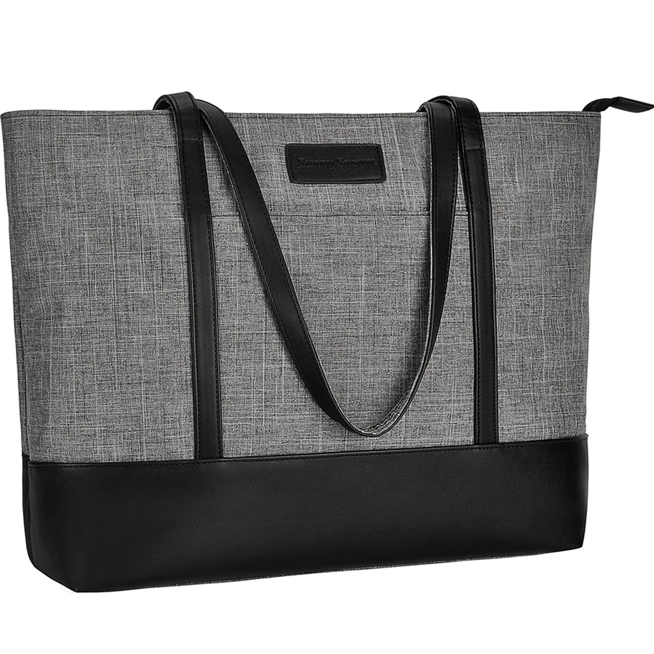 Laptop Bag,Multi Pockets Large Laptop Tote Bag,15.6 Inch Laptop Business Tote Bag for Women[gray]