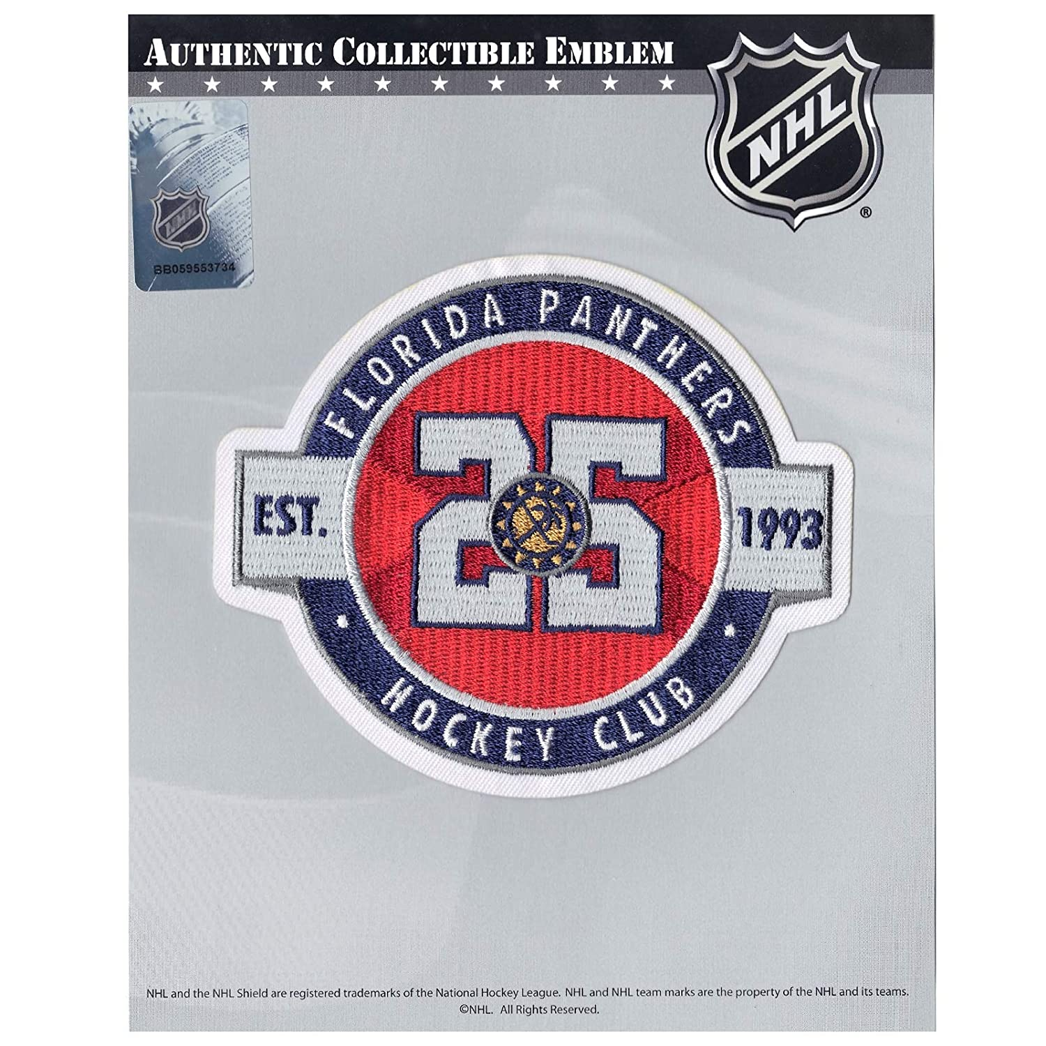 67ed6aca2 Amazon.com   2018 Florida Panthers 25th Anniversary NHL Season Jersey Patch  Red Version   Sports   Outdoors