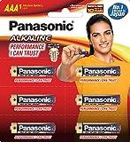 Panasonic Battery Alkaline LR03TDG/6B 1.5V AAA Battery (Multicolor)