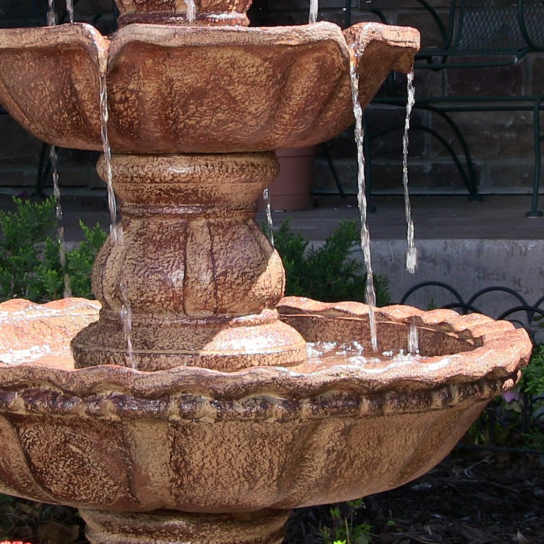 Amazon.com : Sunnydaze 4-Tier Pineapple Outdoor Water Fountain ...