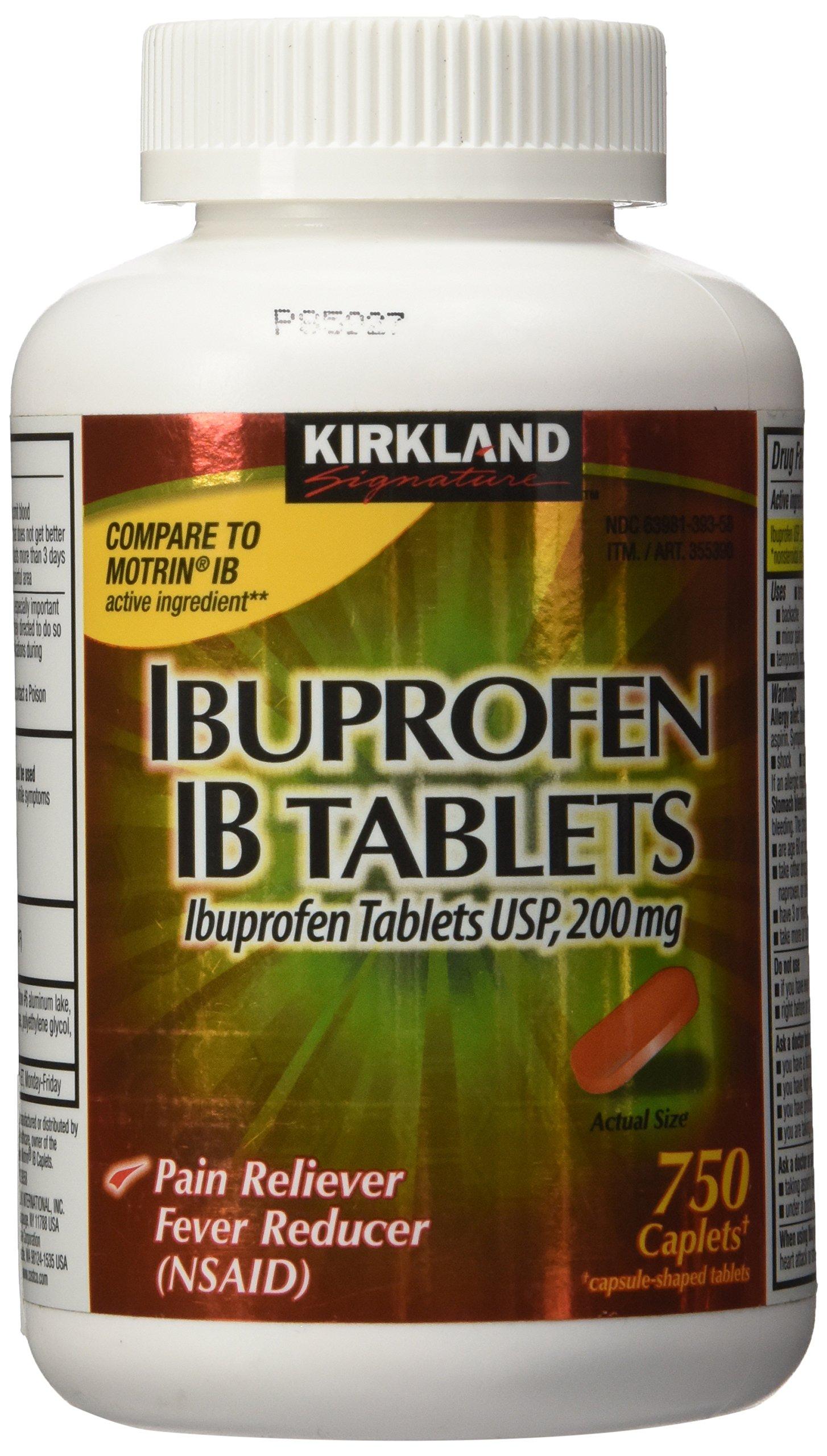 Kirkland Signature Ibuprofen IB 200mg 750caplets