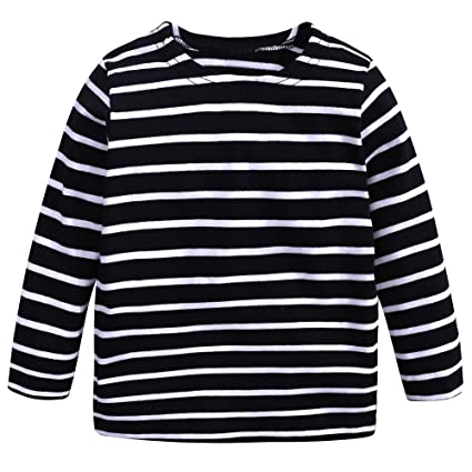 4754ef8d18bf37 Baby Kids Boys Girls Star Striped Long Sleeve O Rong BFF T-Shirt Tee   Amazon.in  Home   Kitchen
