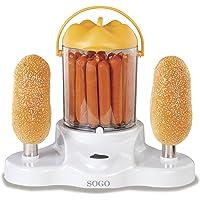 Sogo FHD-SS-11950 - Máquina de perritos calientes + 2 calienta bollos,