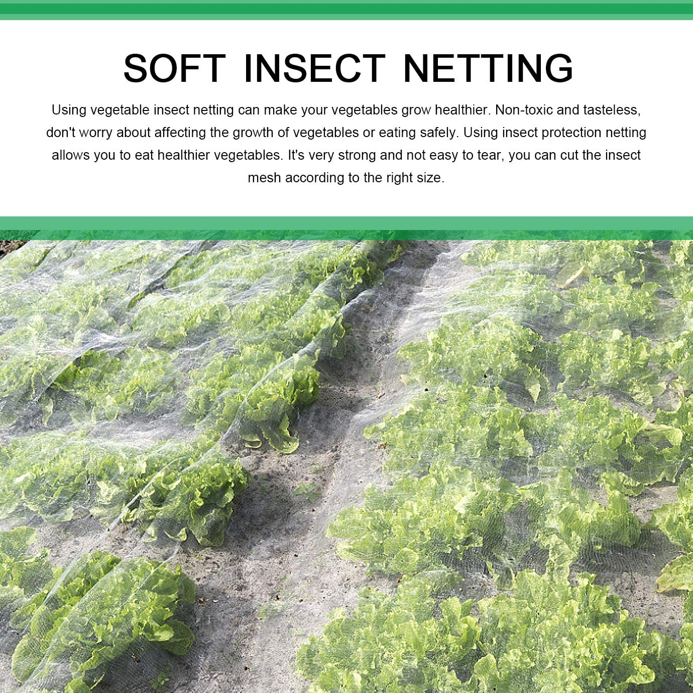WXJ13 2 m x 3 m Soft Insects Netting Garden Anti Bird Butterfly Net Mesh for Protection Plants Vegetable Greenhouse Fruit Flowers Crops Fine Carrot Fly Net Horticultural Netting