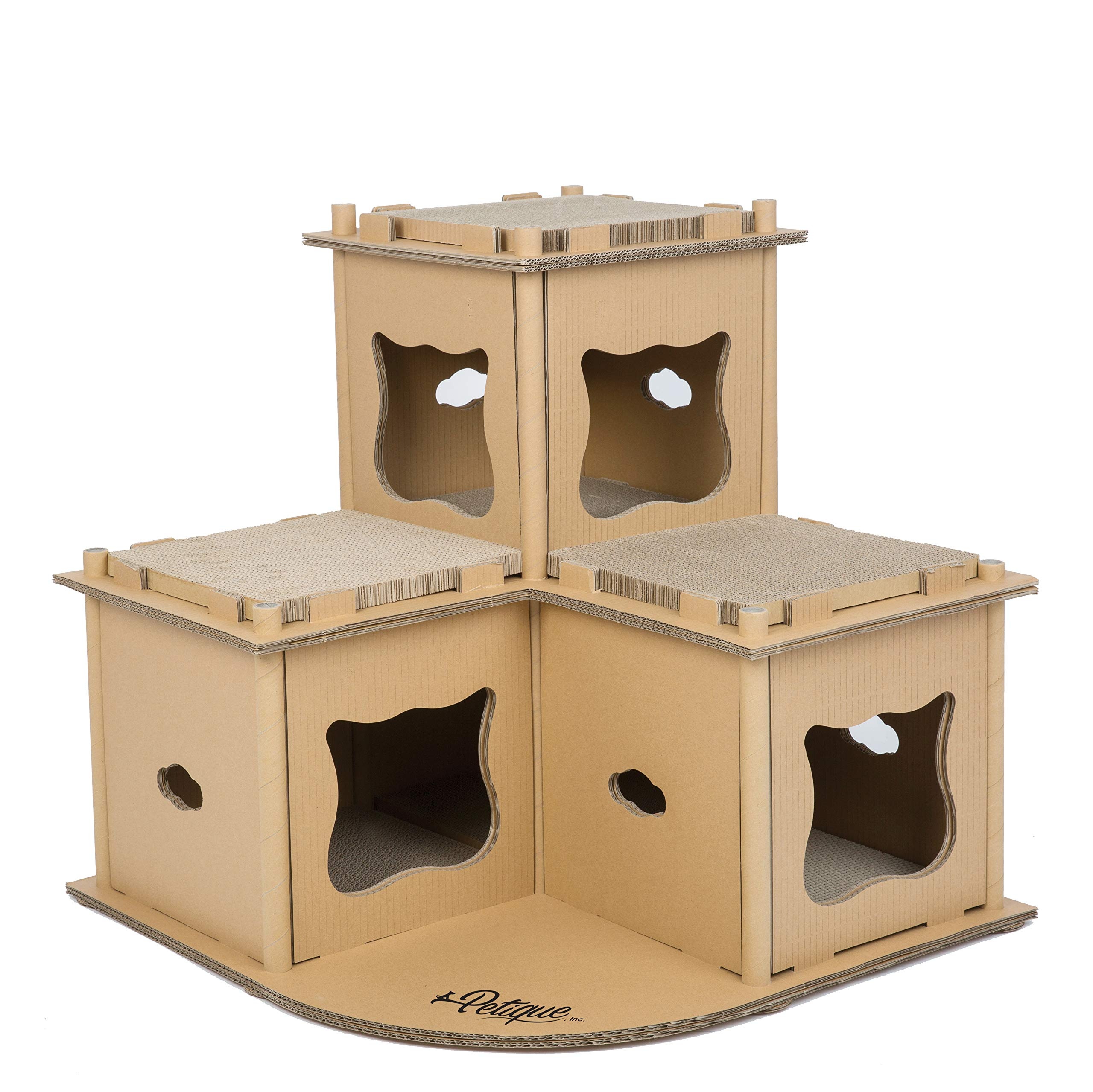 PETIQUE Feline Fortress Cat House, Kraft, One Size by PETIQUE