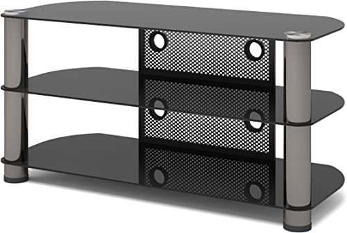 Sonax New York 42-Inch Metal and Glass TV Stand