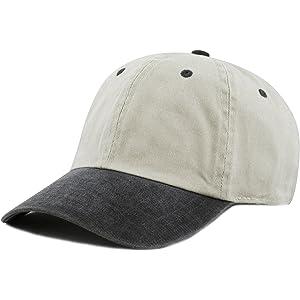 cdd23965dc8 THE HAT DEPOT 100% Cotton Pigment Dyed Low Profile Six Panel Cap Hat