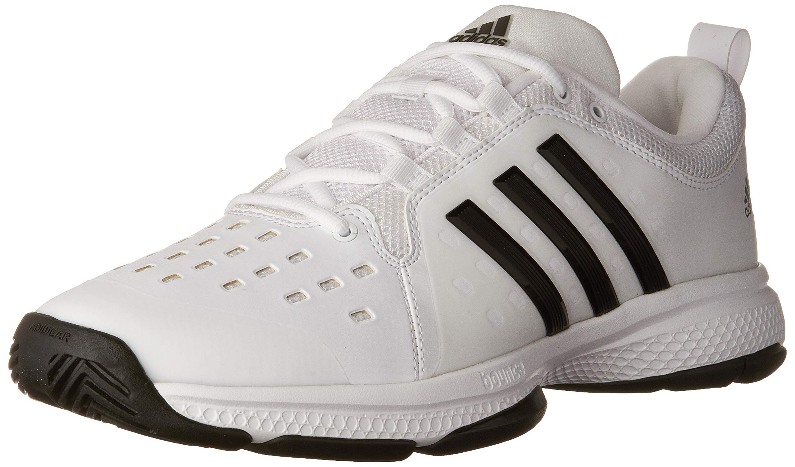 adidas Men's Barricade Classic Bounce Tennis Shoes, White/Black/White, (9 M US) by adidas