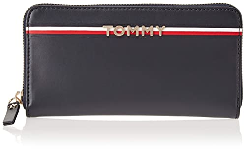 Tommy Hilfiger - Corp Leather Za Wallet, Carteras Mujer, Azul (Tommy Navy/