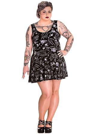 Spin Doctor Plus Size Gothic Ouija Board Moon Pentagram Mini Dress