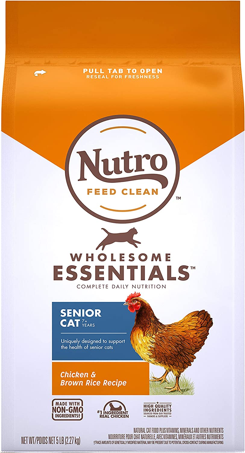 Nutro Wholesome Essentials Adult & Senior Dry Cat Food, Chicken