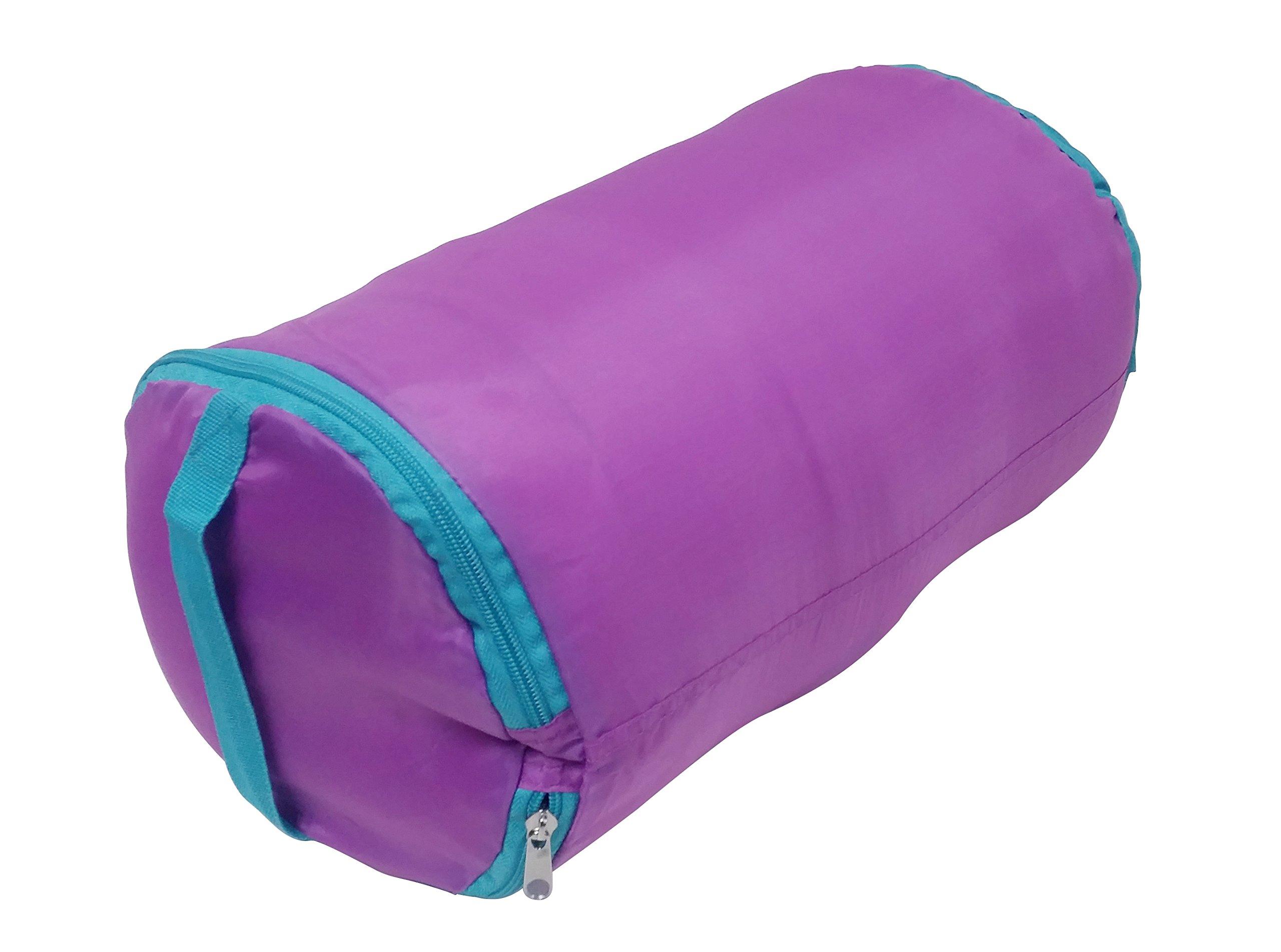 Ozark-Trail Kids Sleeping Bag Camping Indoor Outoor Traveling (Raccoon/Bear) (Purple,Teal) by Ozark-Trail (Image #4)