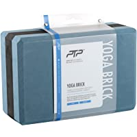 PTP Yoga Brick for Alignment and Pose Assistance, Air Force Blue/Black