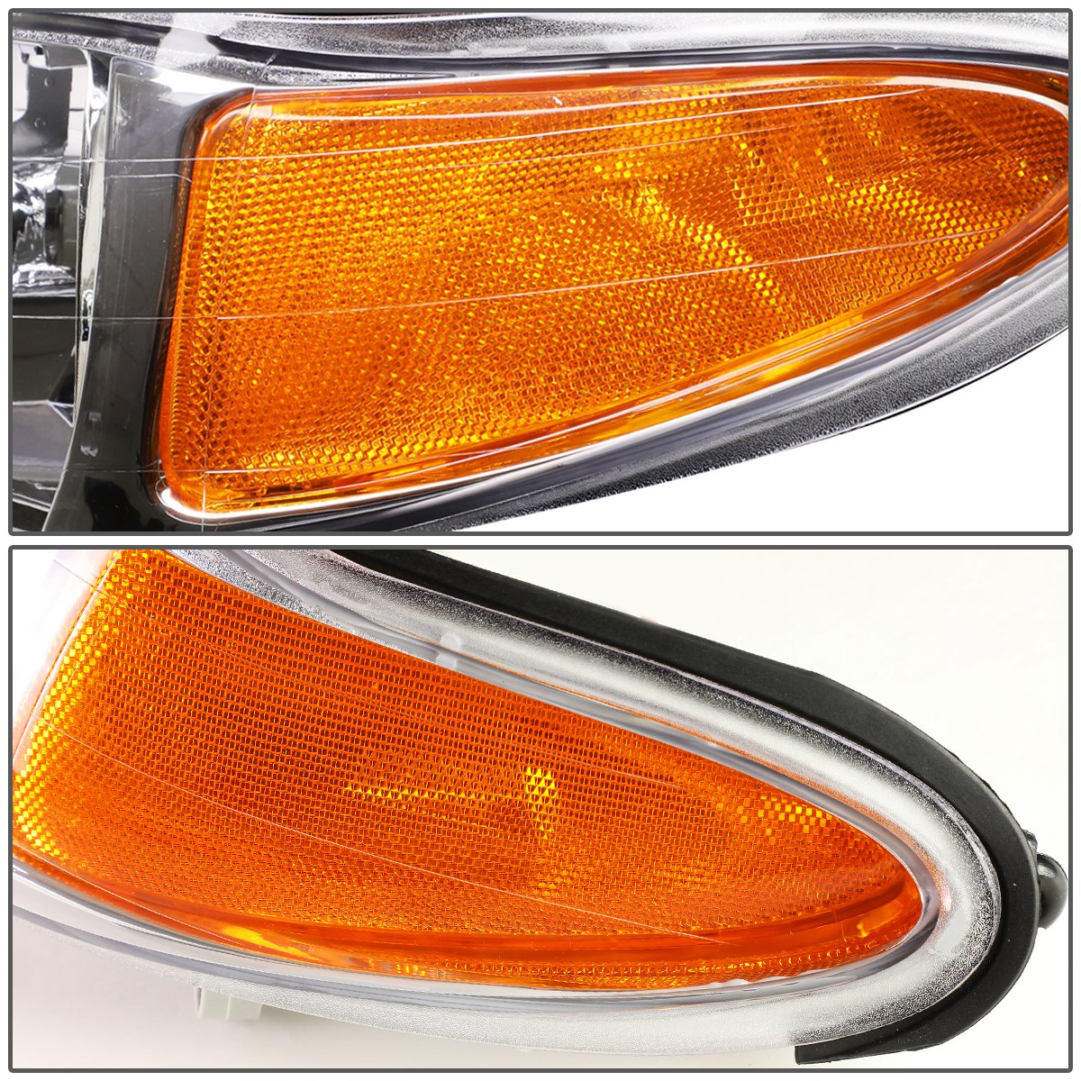 DNA MOTORING HL-OH-084-SM-AM Toyota Camry Headlight Assembly Driver And Passenger Side