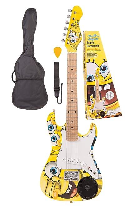 Spongebob SBG34 3/4 - Juego de guitarra eléctrica infantil con altavoces integrados, diseño