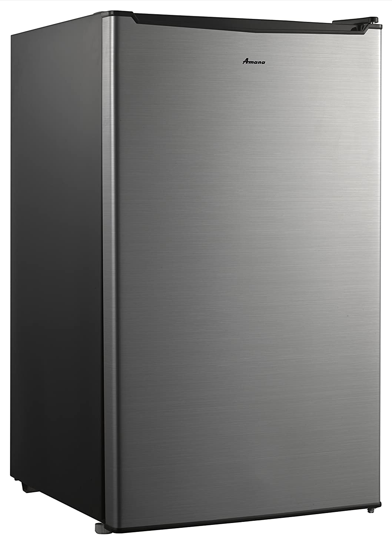 Amana AMA35S1 Compact Single Door Refrigerator, 3.5 cu. ft, Stainless Steel