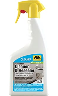 FILA Natural Stone Cleaner and Sealer Refresh Spray 24 OZ, ideal for All Natural Stone