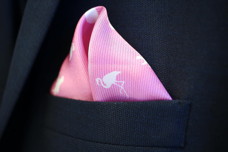 Tropical Pink Dean Pure Silk: Mr Silk Pocket Square by American Pocket Square Company Dapper