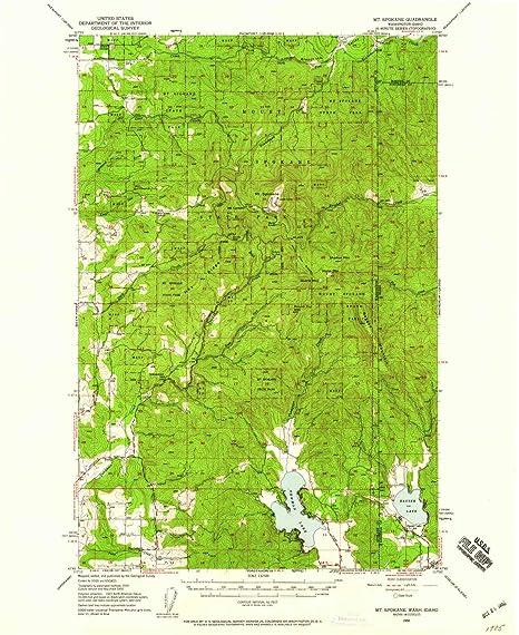 Spokane Elevation Map.Amazon Com Yellowmaps Mt Spokane Wa Topo Map 1 62500 Scale 15 X