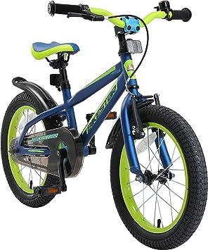 BIKESTAR Bicicleta Infantil para niños y niñas a Partir de 4 años | Bici de montaña 16 Pulgadas con Frenos | 16