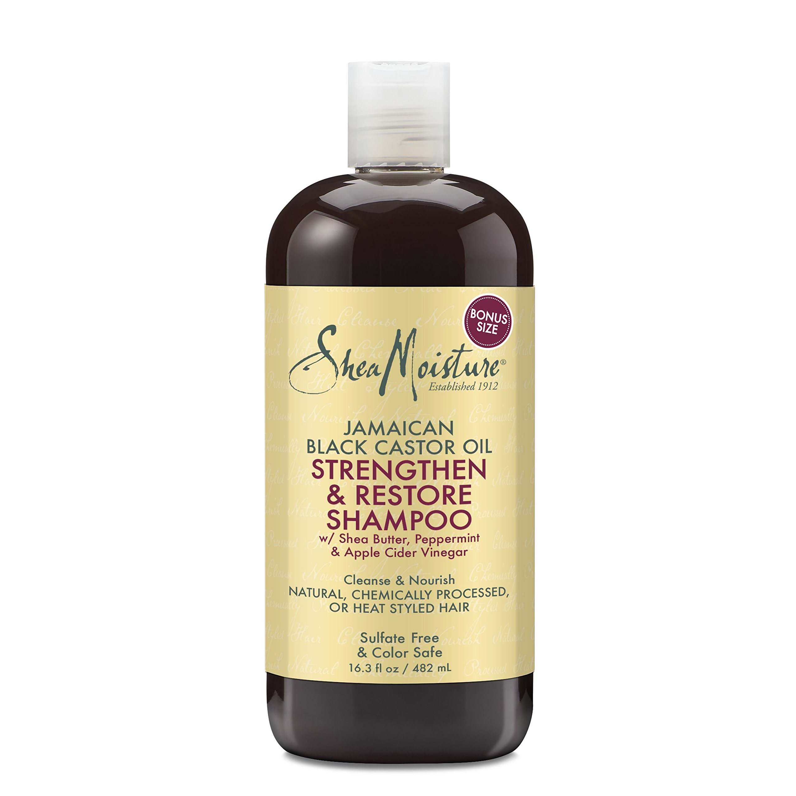 Shea Moisture  Strengthen, Grow & Restore Shampoo and Conditioner Set, Jamaican Black Castor Oil Combination Pack, 16.3 oz Shampoo & 13 oz. Conditioner by Shea Moisture (Image #5)