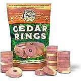 Cedar Sense Cedar Rings - 30 Pack - Cedar - Cedar Moth - Cedar Blocks for Clothes Storage - Moth - Closet Freshener…