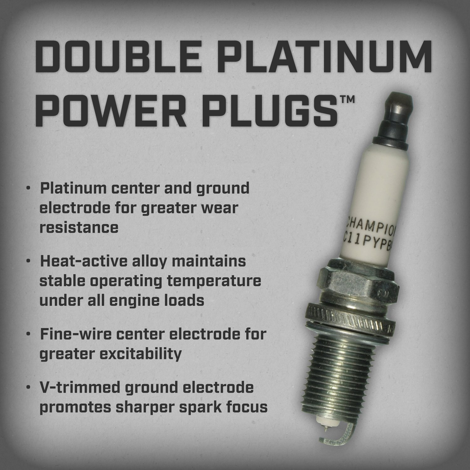 Amazon.com: Champion 7070 Double Platinum Power Replacement Spark Plug, (Pack of 1): Automotive