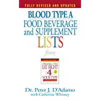 Blood Type A  Food, Beverage and Supplement Lists (Eat Right 4 Your Type) (English Edition)