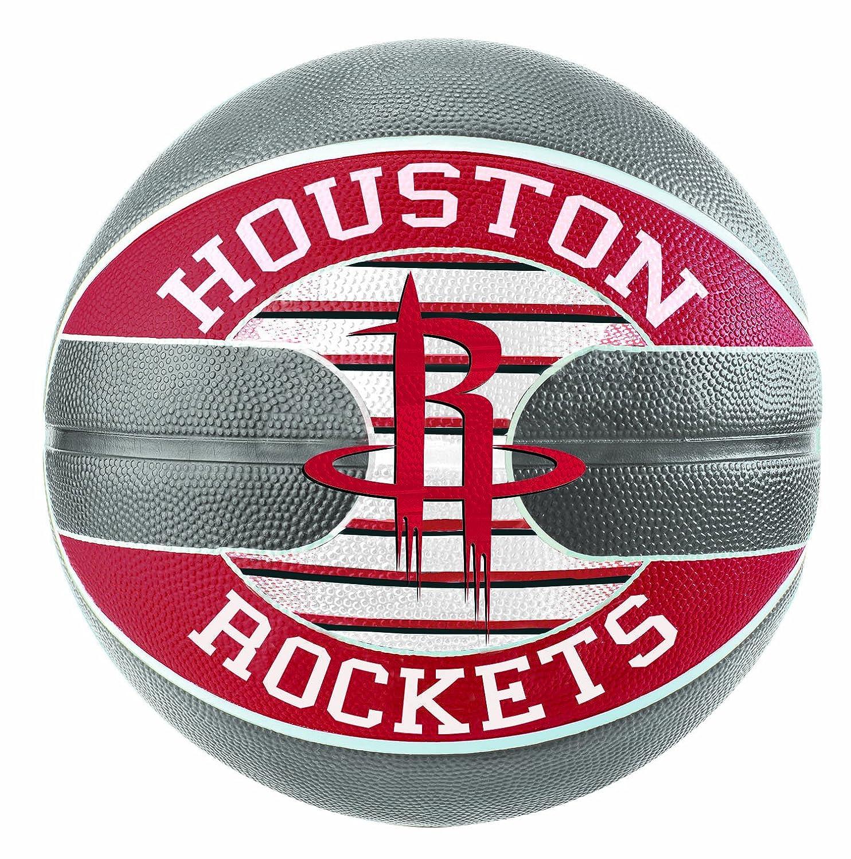 Spalding NBA Team Houston Rockets SZ.7 (83-589Z) - Mehrfarbig grau/Rot 7 SPAPO|#Spalding 3001587011017