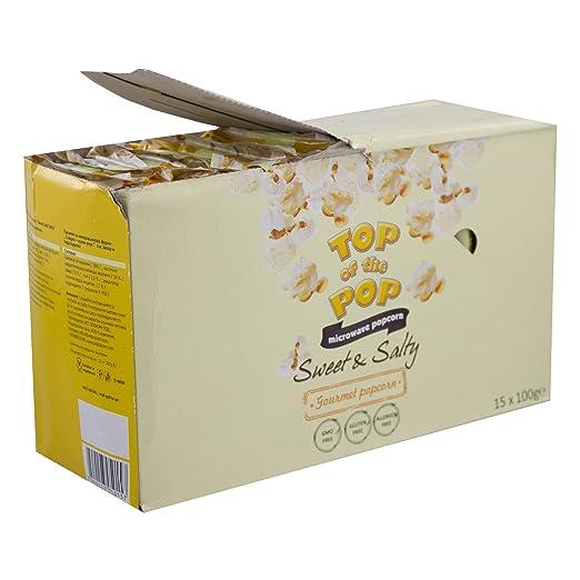 Top of the Pop Microondas palomitas, Sweet & Salty, dulce y ...