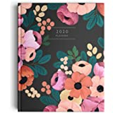 The Ink Bucket - 2020 Verona Blush Planner Diary | Fresh Botanical Illustrations & Motivational Quotes | Vision Board, Habit Tracker, Thoughtful Prompts, Goal Tracker | Size - Height - 20cms; Width - 16cms
