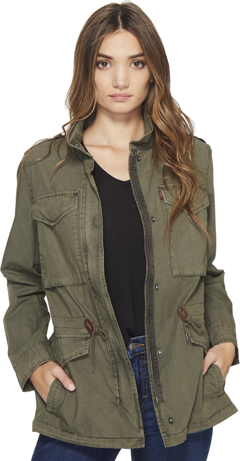 Levi's Women's Parachute Cotton Military Jacket, Agn, XL