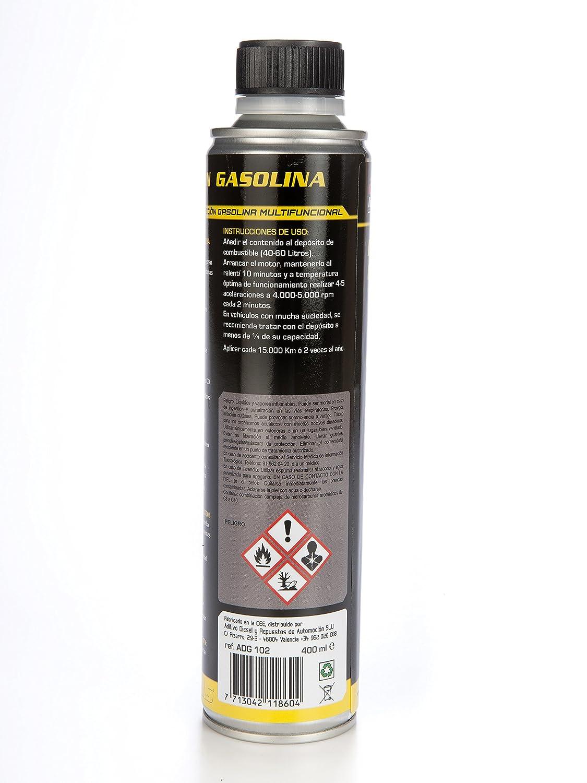 LIMPIADOR INYECCION GASOLINA 1 X 400ml. Limpiador de inyectores gasolina de alta eficacia. Aditools linea profesional.: Amazon.es: Coche y moto