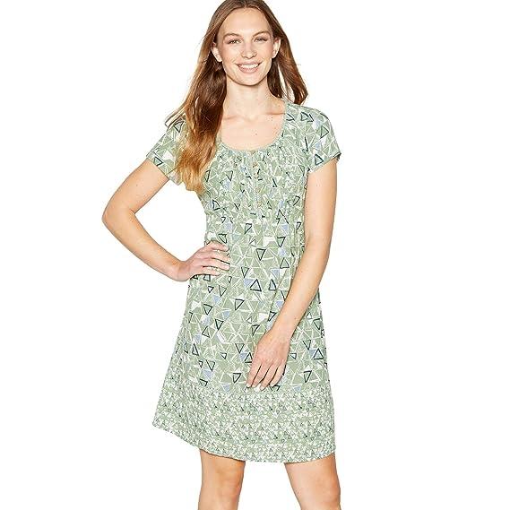 258f76f9d3 Mantaray Womens Pale Green Triangle Tile Print Knee Length Skater Dress 18:  Mantaray: Amazon.co.uk: Clothing