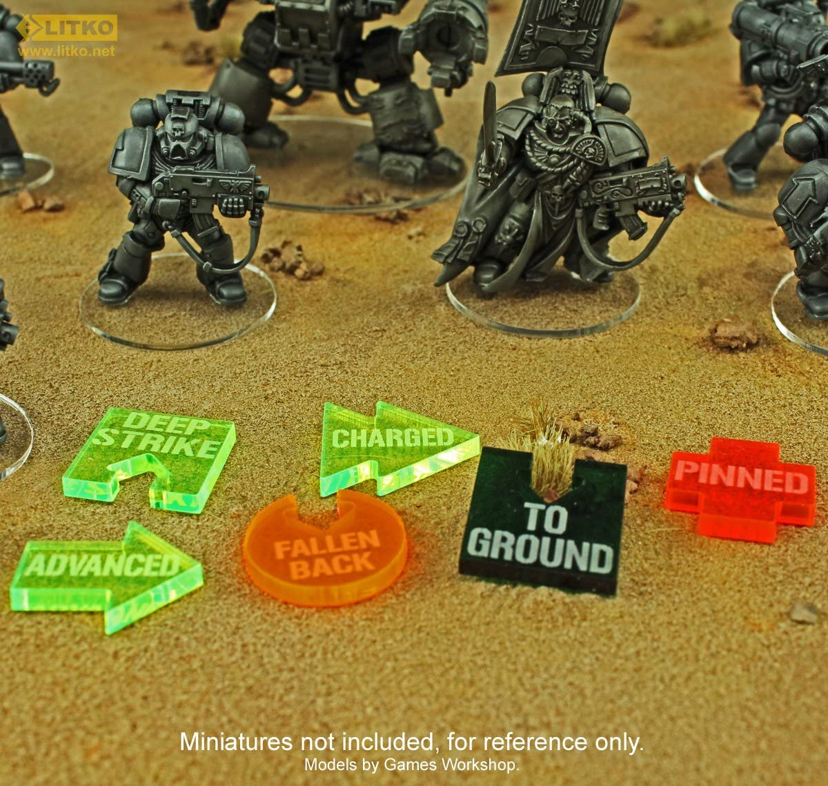 10 Translucent Green Litko Game Accessories WHv8 Guard Special Orders Token Set