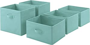 AmazonBasics Fabric 5-Drawer Storage Organizer - Replacement Drawers, Mint Green