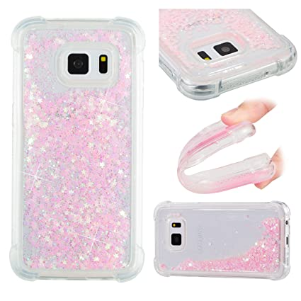 Amazon.com: Galaxy S7 Case, Eyilin [Pink] Transparent Love ...