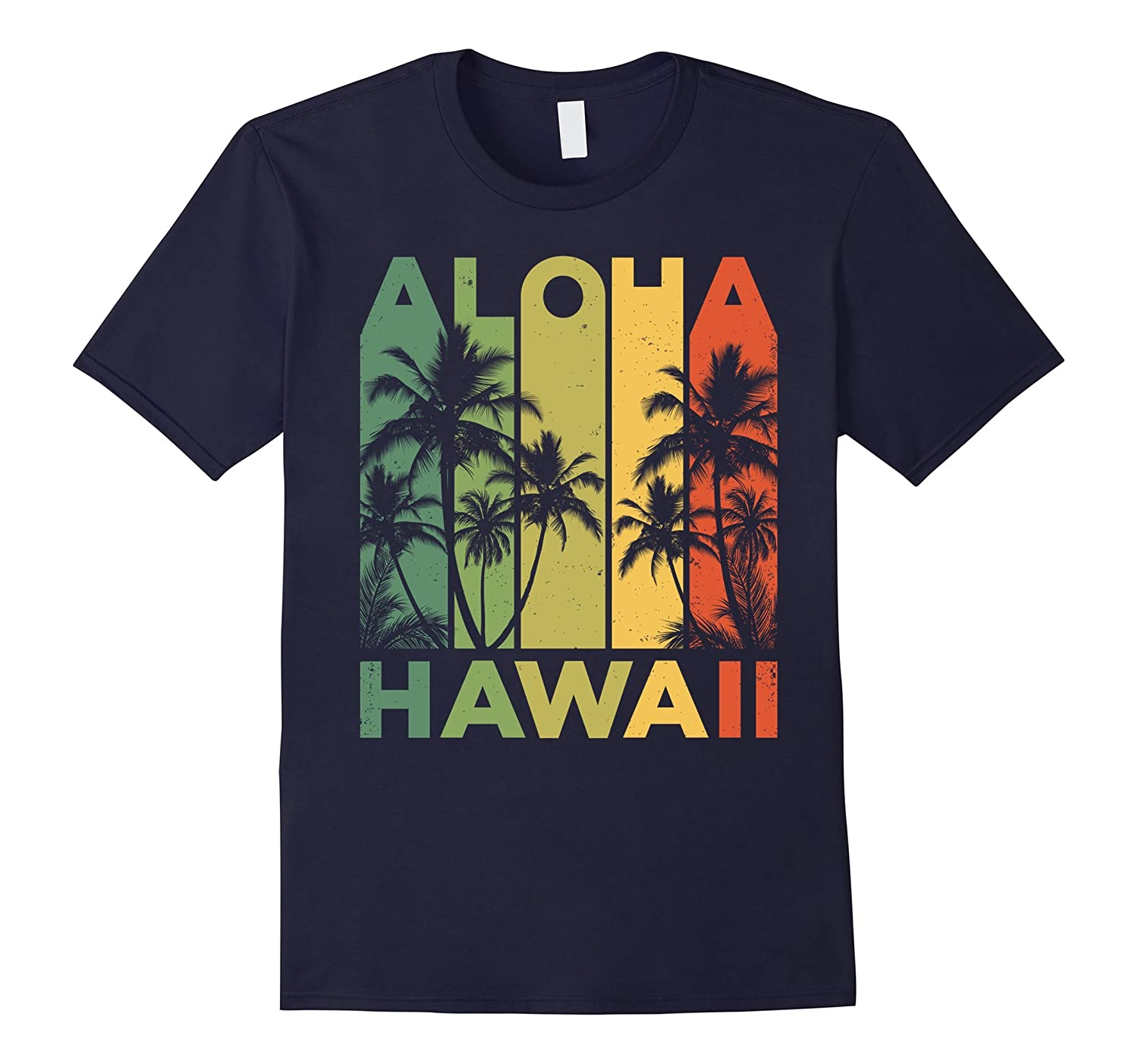 Vintage Hawaiian Islands Tee Hawaii Aloha State T-Shirt-alottee gift
